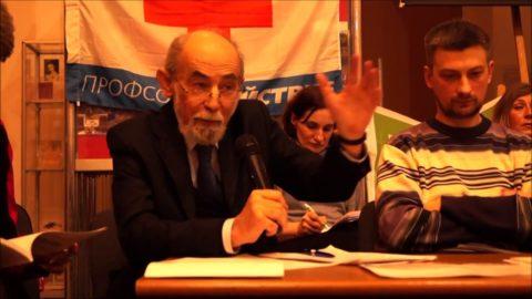 Юрий Савенко (слева) на конференции в поддержку медицины в Сахаровском Центре
