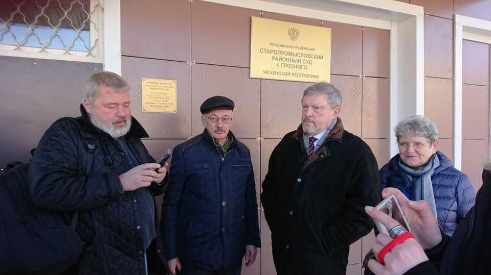 На фото справа налево: Светлана Ганнушкина, Григорий Явлинский, Олег Орлов,  Дмитрий Муратов . Фото Елены Милашевой